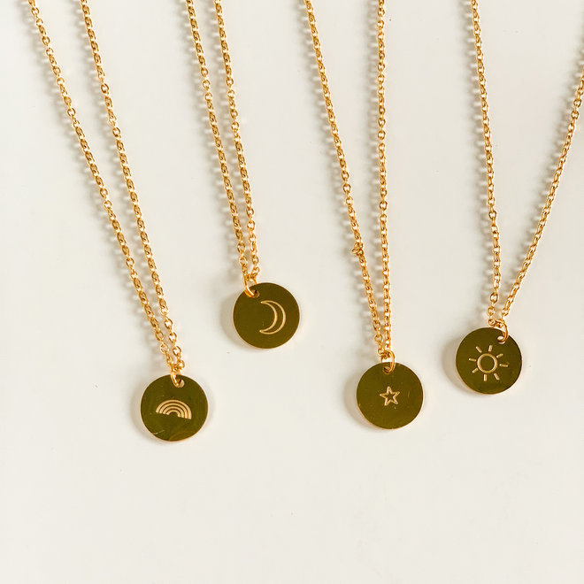 Illustrated Stamped Necklace