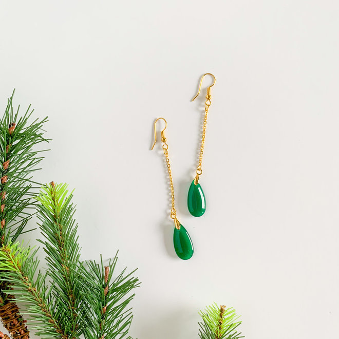 Ever Green Drop Earrings