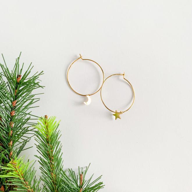 Starry Night Hoop Earrings