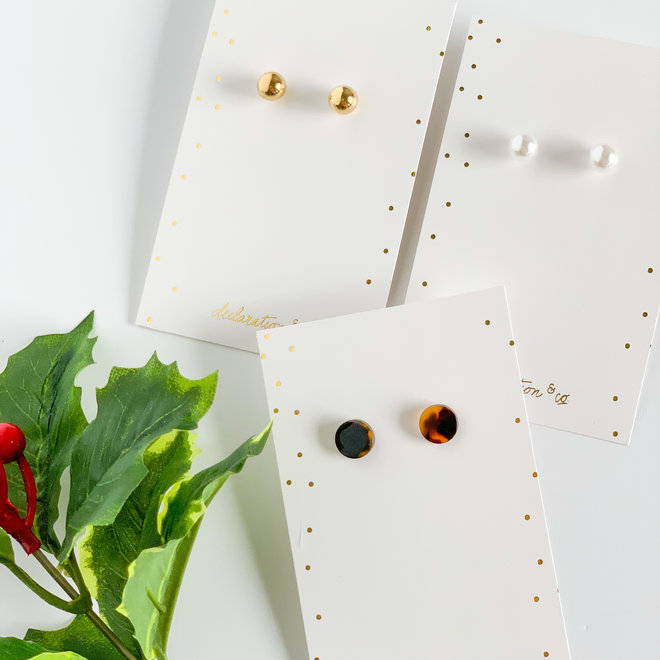 Mrs Claus Pearl Studs