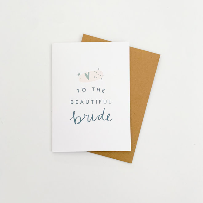 D & Co Classic Greeting Card- Beautiful Bride