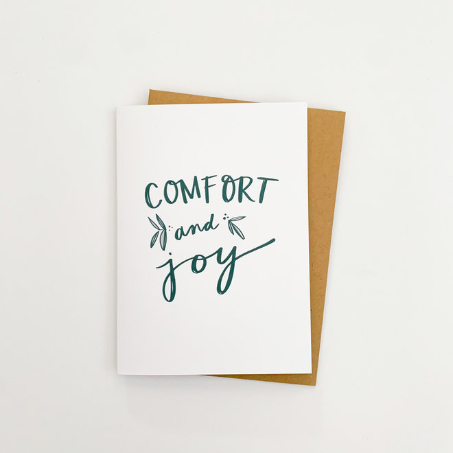 D & Co Classic Greeting Card- Comfort and Joy