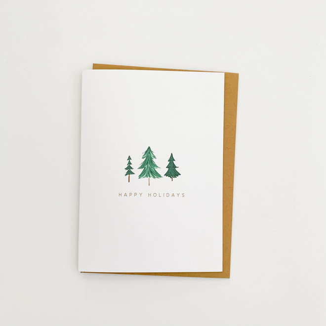 D & Co Classic Greeting Card- Happy Holidays