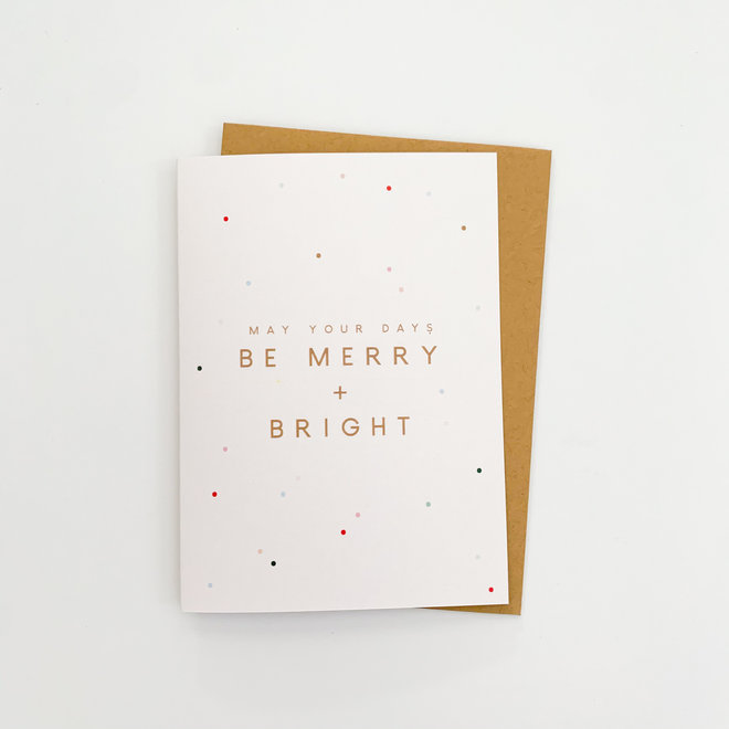D & Co Classic Greeting Card- Merry and Bright