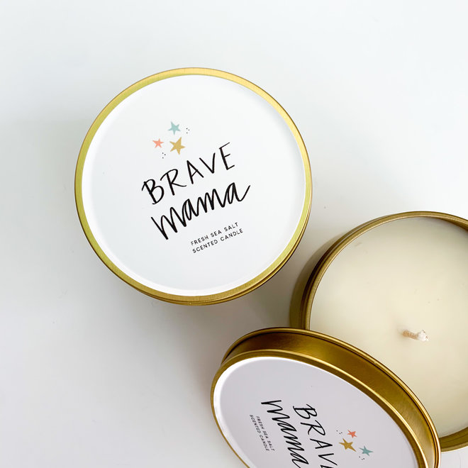 D & Co Gold Tin Candle - Brave Mama
