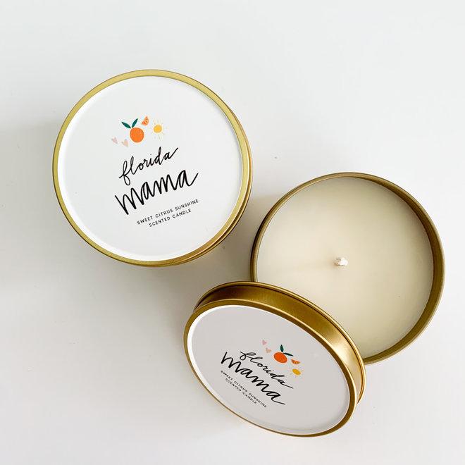 D & Co Gold Tin Candle - Florida Mama