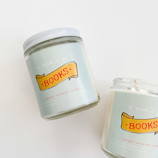 World of Books Candle 8 oz