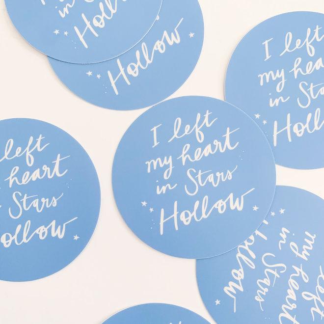 Script Stars Hollow Sticker