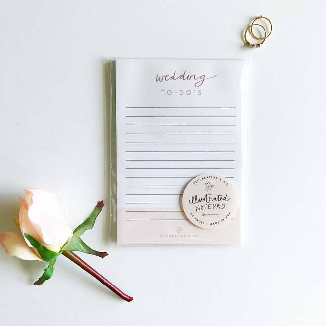 Wedding To Do Notepad
