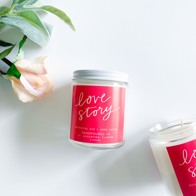 Love Story 8 oz Candle