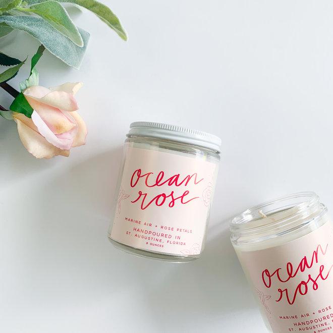 Ocean Rose 8 oz Candle