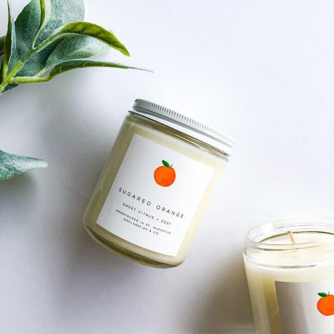 Sugared Orange Classic Illustrated Candle