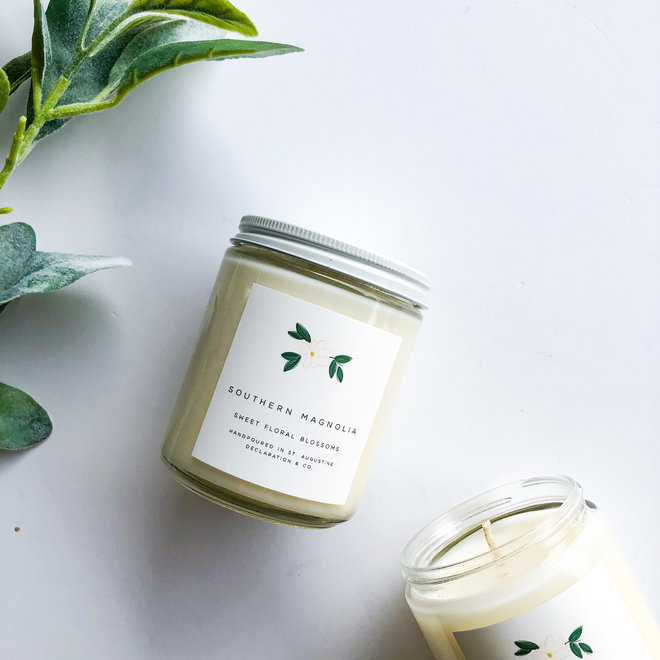 Southern Magnolia Classic Illustrated Candle