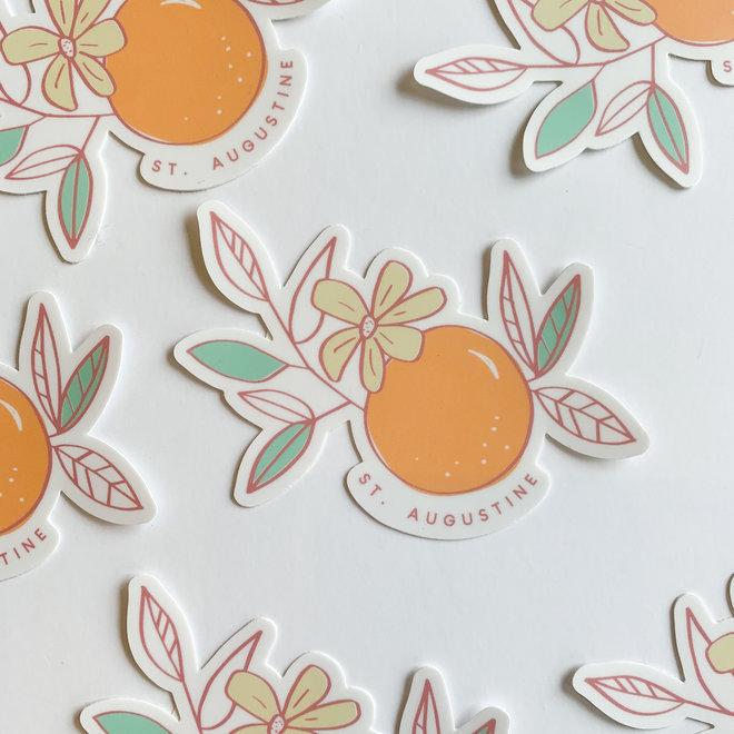 St. Augustine Orange Blossom Sticker