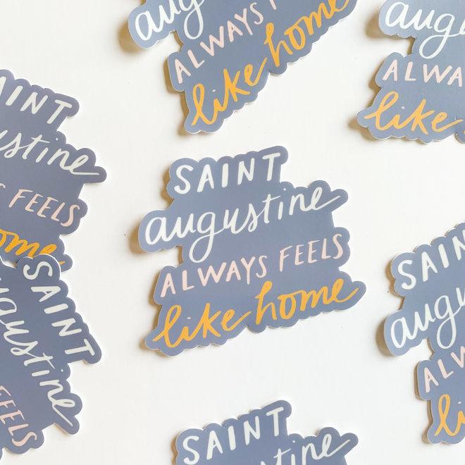 Saint Augustine Feels Like Home Sticker
