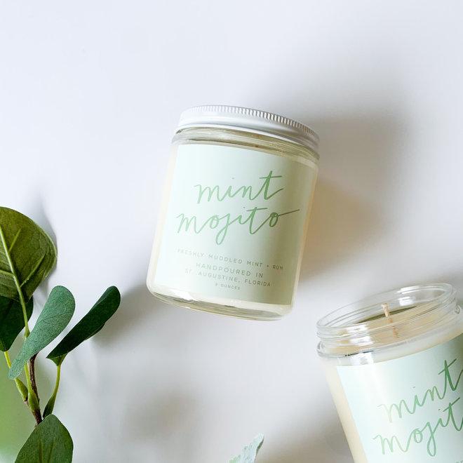 Mint Mojito Script Candle