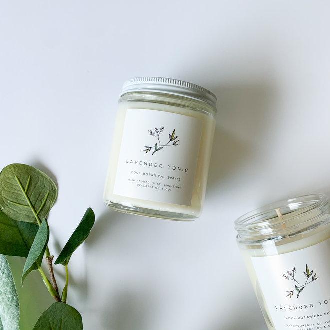 Lavender Tonic Script Candle