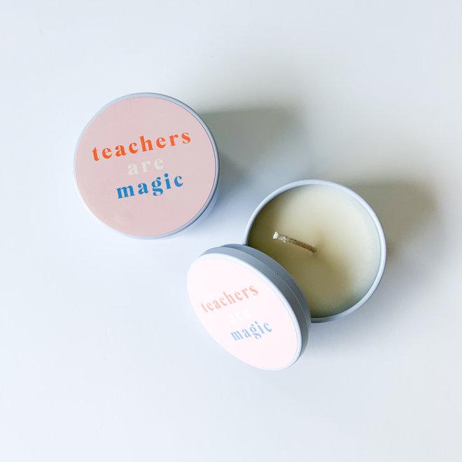 Teachers are Magic Tiny Tin Candle