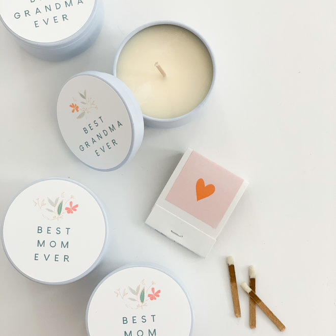 Best Mom Ever Tiny Tin Candle