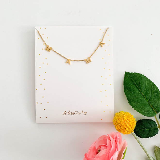 Modern Mama Necklace Gold