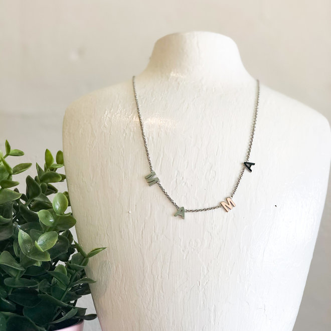 Modern Mama Necklace Silver
