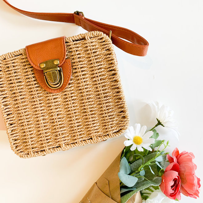 Days in the Sun Square Basket Bag