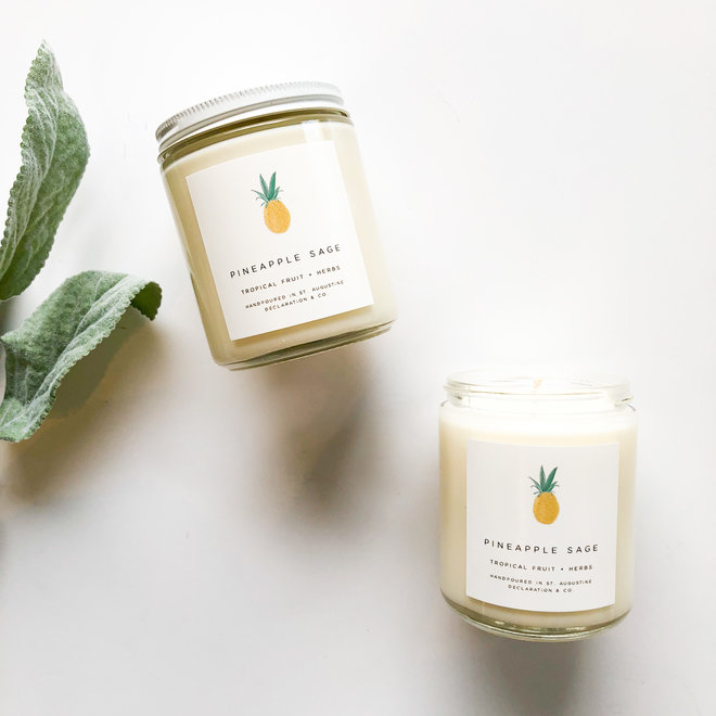 Pineapple Sage Classic Illustrated Candle