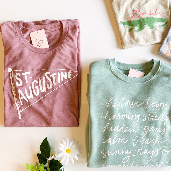 St. Augustine Pennant Orchid Tee