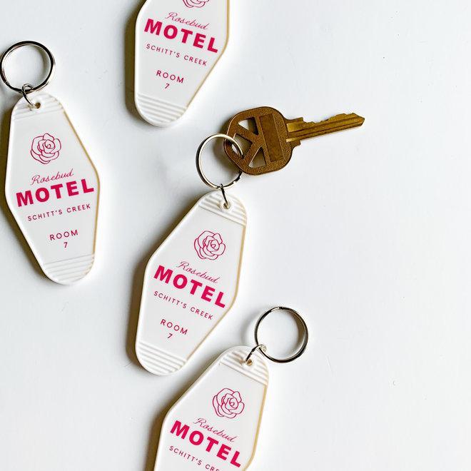 Rosebud Motel Keychain