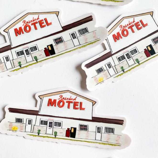 Rosebud Motel Sketch Sticker