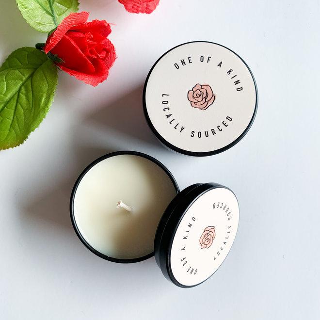 RA Mini Ocean Rose Tin Candle
