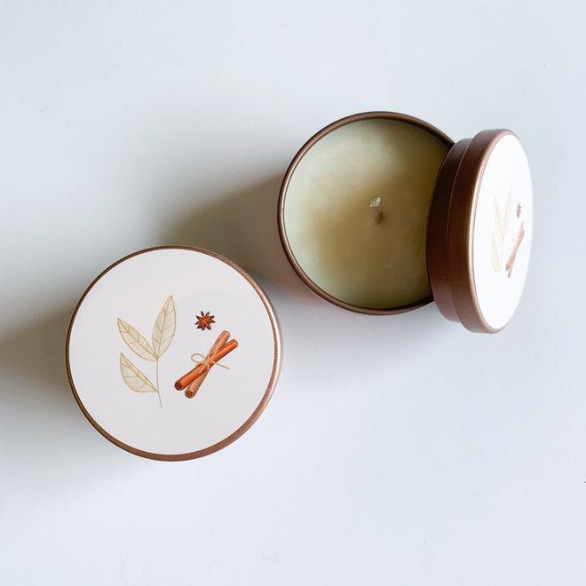 Chai Tea Gold Tin Candle