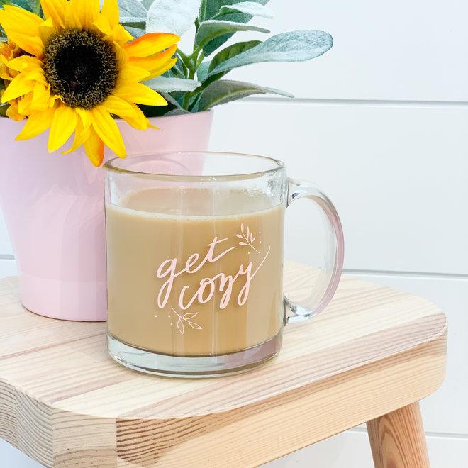 Get Cozy Glass Mug