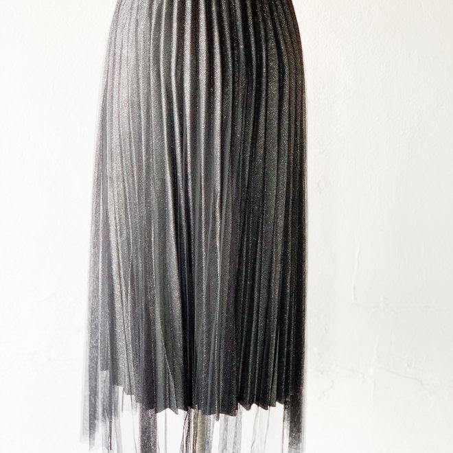 Spellbound Black Midi Skirt
