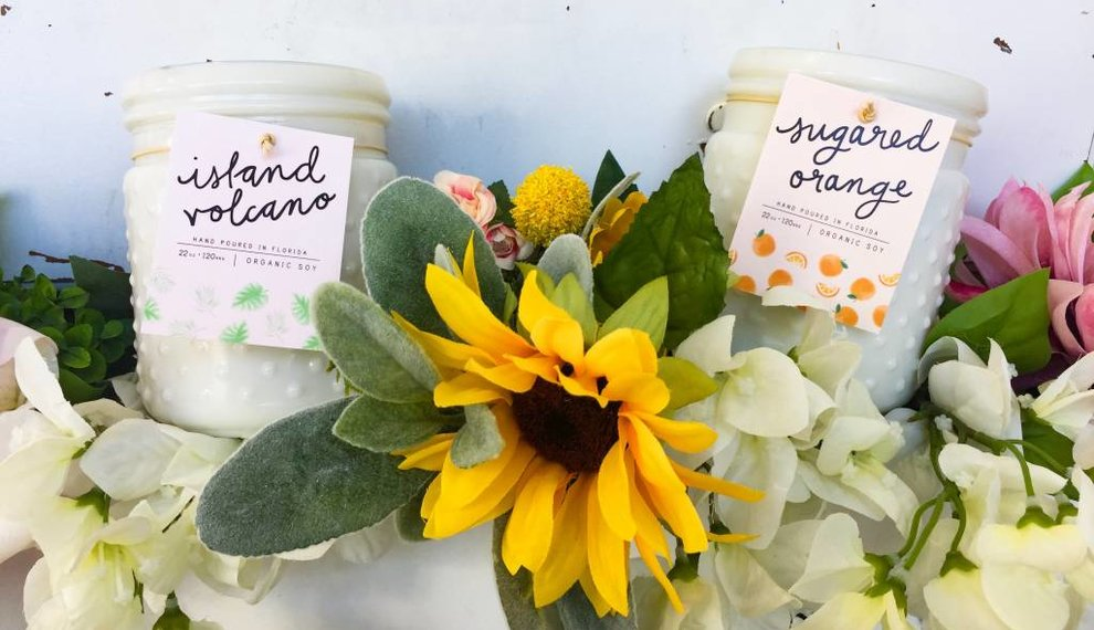 Summer Hobnail Candles