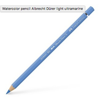FABER CASTELL ALBRECHT DURER WATERCOLOUR PENCIL 140 LIGHT ULTRAMARINE