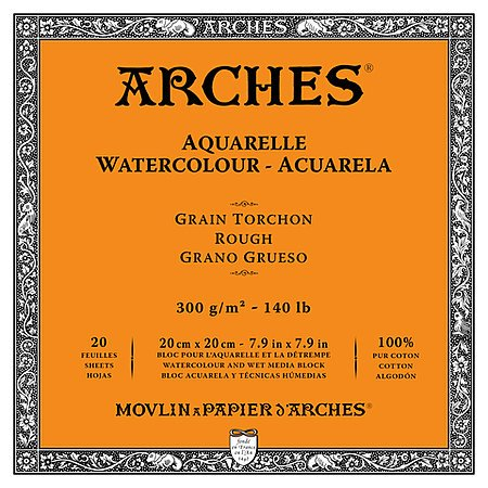 ARCHES ARCHES WATERCOLOUR BLOCK 140LB ROUGH 3.9X9.8