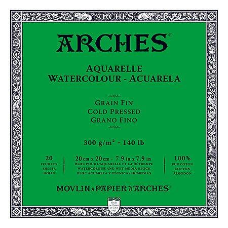 ARCHES ARCHES WATERCOLOUR BLOCK 140LB CP 7.9X7.9