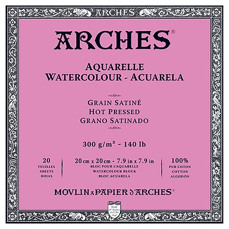 ARCHES ARCHES WATERCOLOUR BLOCK 140LB HP 7.9X7.9