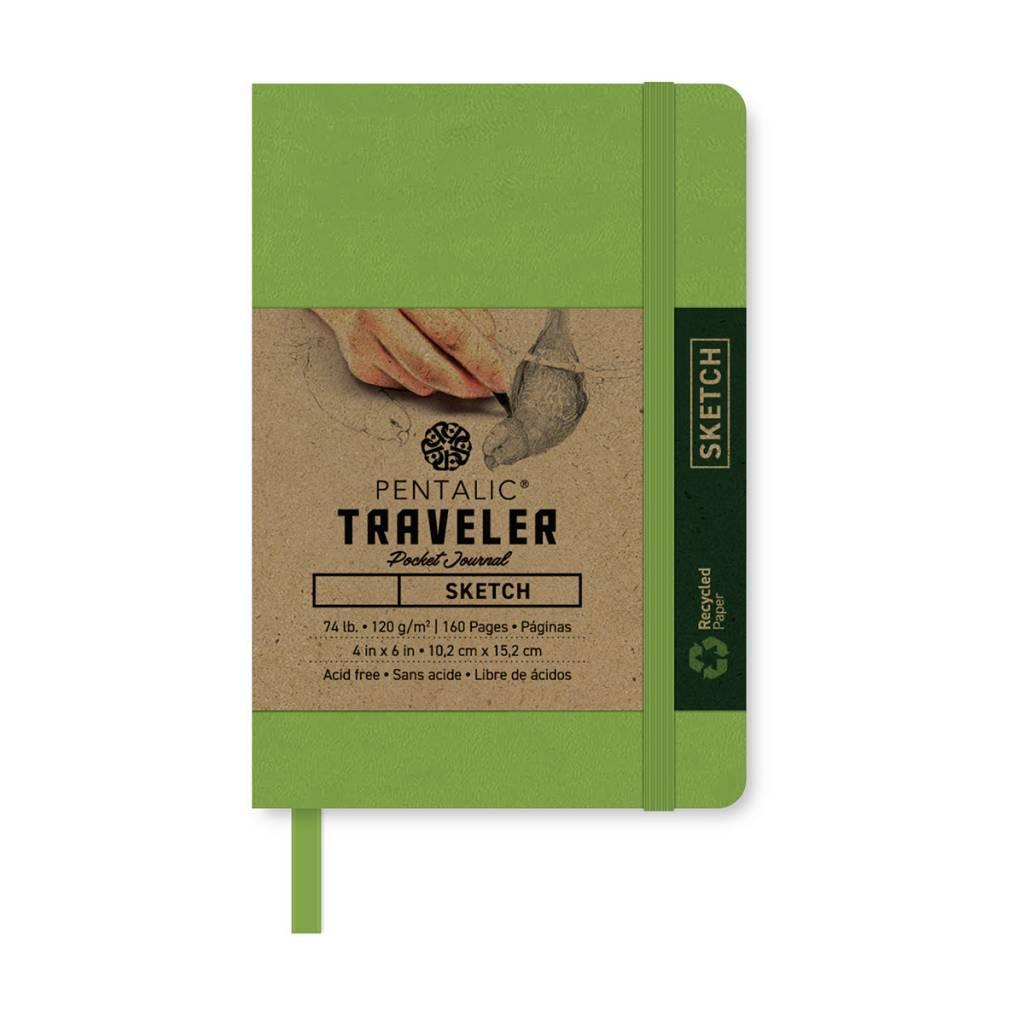 PENTALIC PENTALIC TRAVELER POCKET JOURNAL SKETCH 6X4 OLIVE GREEN