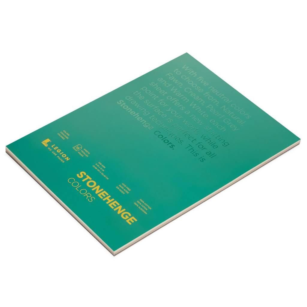 LEGION PAPER STONEHENGE PAD MULTI COLOUR 5X7 90LB  15/SHT