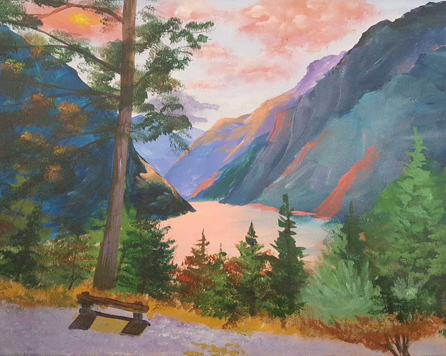 ART CLASS - MOUNTAIN LAKE IN ACRYLICS WITH JANET CARDINAL - JULY 16, 6-9PM