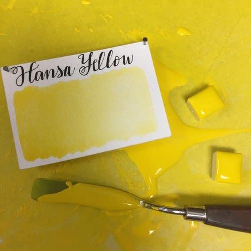 STONEGROUND STONEGROUND WATERCOLOUR HANSA YELLOW HALF PAN