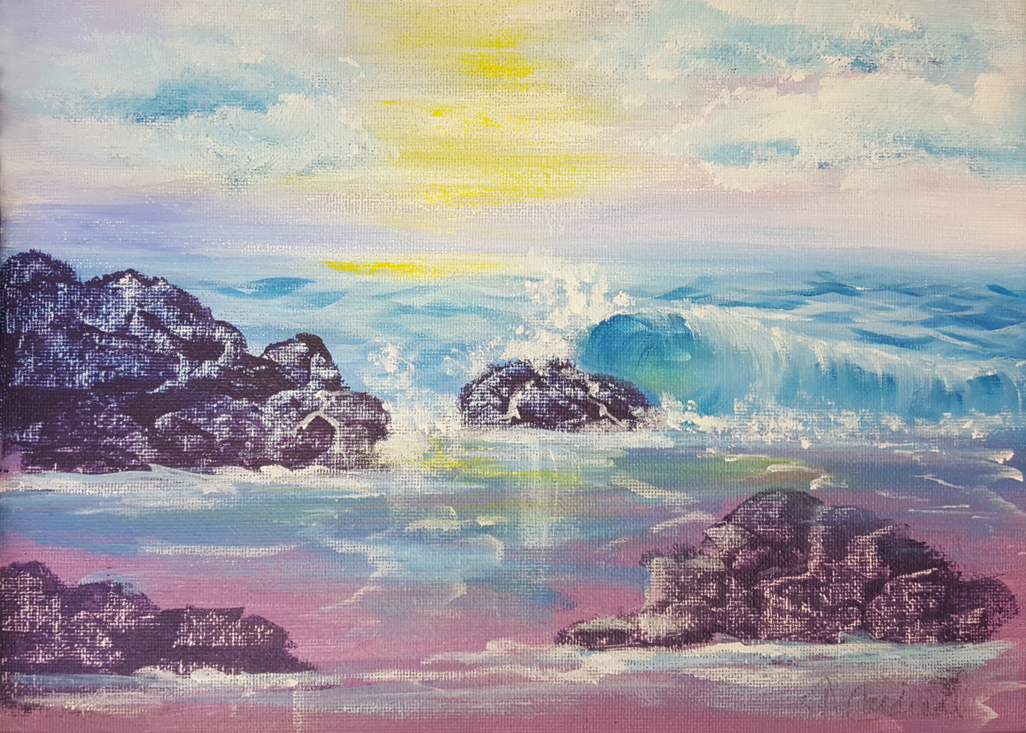 ART CLASS - OCEANSCAPE IN ACRYLICS WITH JANET CARDINAL, AUGUST 20, 6 - 9PM