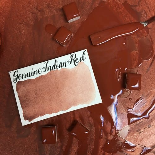 STONEGROUND WATERCOLOUR HALF PAN GENUINE INDIAN RED