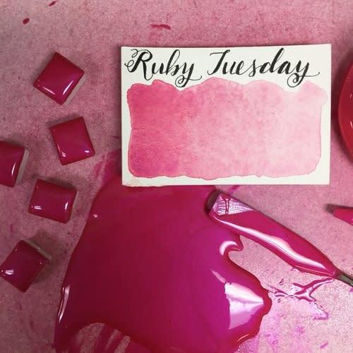 STONEGROUND STONEGROUND WATERCOLOUR HALF PAN RUBY TUESDAY