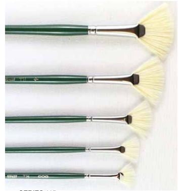 Series 115 Hog Bristle Fan Brushes