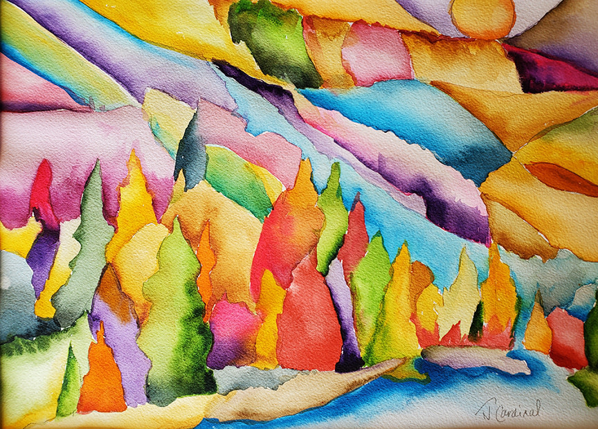 ART CLASS - FRACTURED MOUNTAINS IN WATERCOLOUR, OCTOBER 8  6-9PM