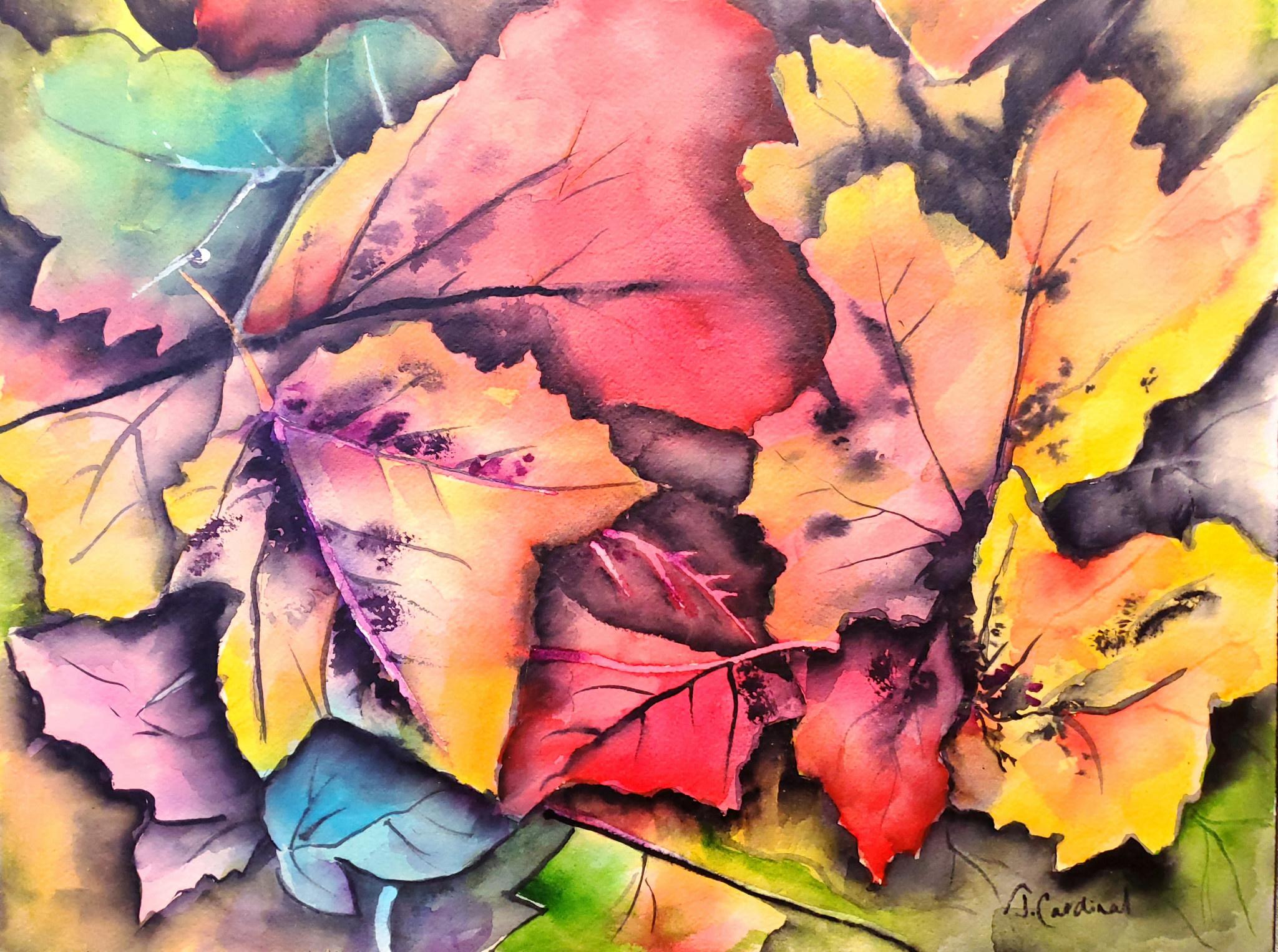 ART CLASS - FALLEN LEAVES IN WATERCOLOUR - JAN. 7, 6-9 PM