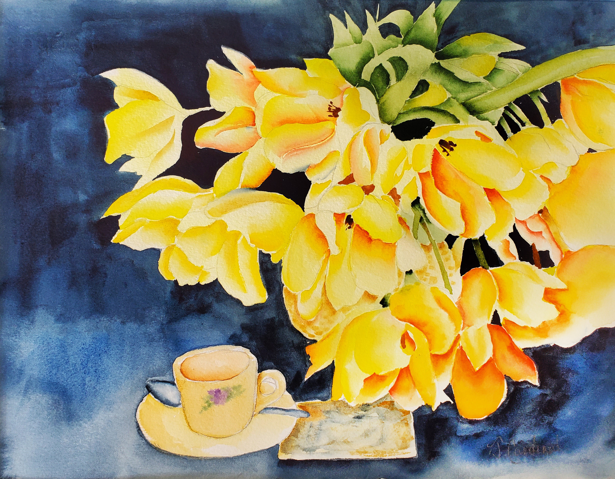ART CLASS - TEA AND TULIPS IN WATERCOLOUR - MAY 5, 6-9PM